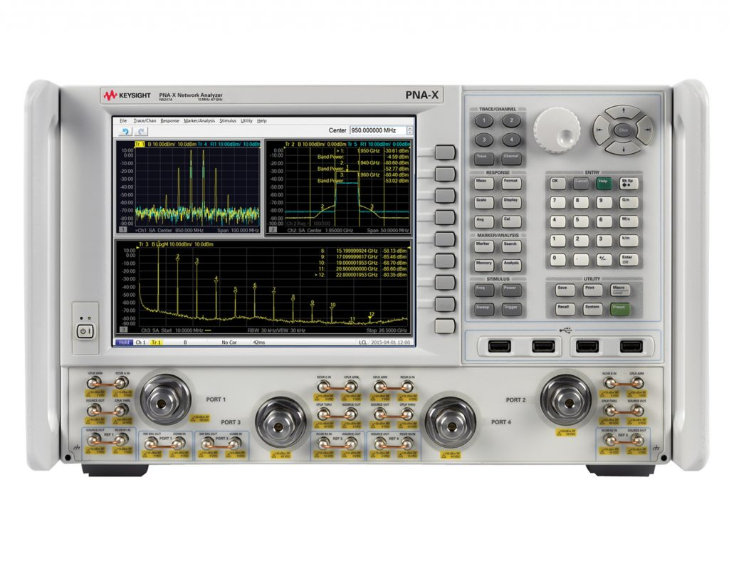 Figure 1: Adding optional spectrum analysis capability to an advanced VNA brings new levels of speed, convenience and insight to component testing