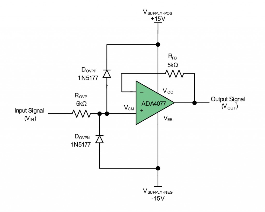 Op Amp Input Over Voltage Protection Clamping Vs Integrated Parallel Circuit Figure 1 Classic For