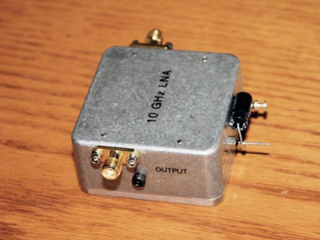 Completed 10 GHz LNA