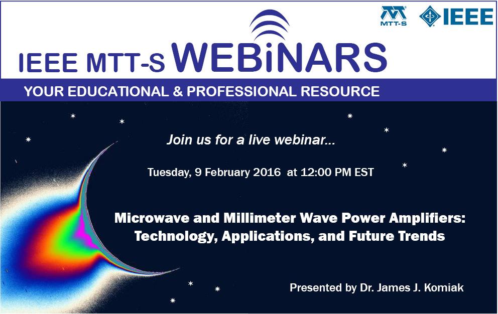 Complimentary Webinar: Microwave & mmWave Power Amplifiers
