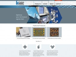 Screenshot of Custom MMIC's new website