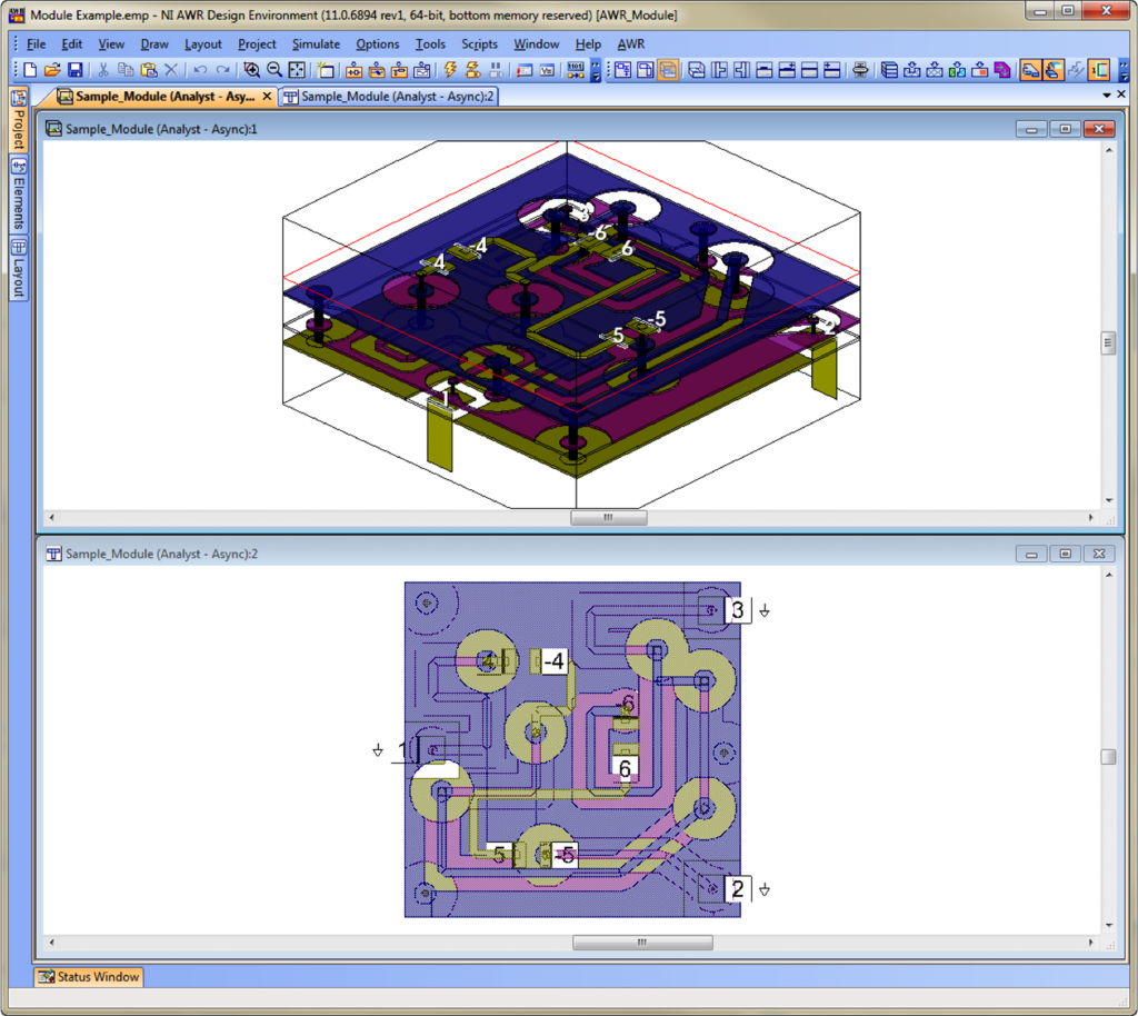 AWR Connected for HFSS: RF Module Design Example