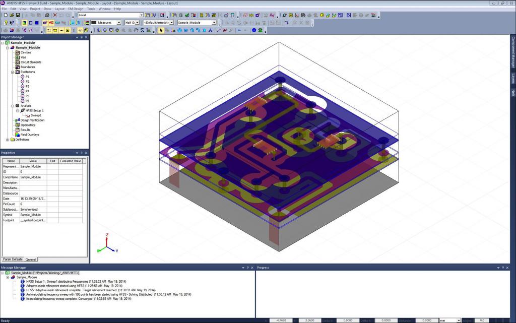 AWR Connected for Cadence Allegro: RF PCB EM verification design flow example