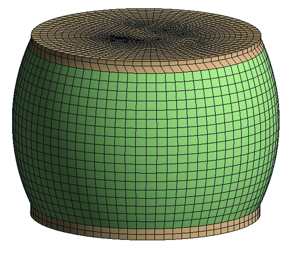 Sample BGA ball geometry/mesh