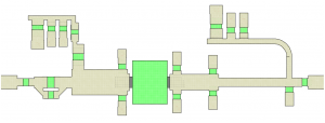 Figure 11: Final layout for the Class-F amplifier design