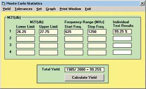 Figure 9: LINC2 statistical yield goals