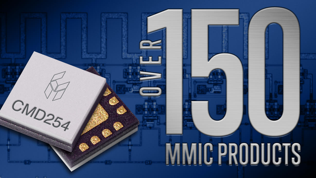After Releasing 30 New Products in 2018, Custom MMIC's Product Portfolio Now Includes Over 150 MMICs